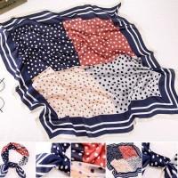 scarf syal silk sutra halus kotak model terbaru 70 x 70 cm murah