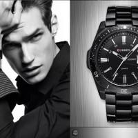 jam tangan pria original anti air curren 8110 full black