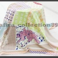 Jilbab segi empat murah ukuran : 115cmx115cm berkualitas, banyak motif