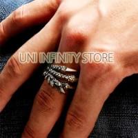 JWRI0006 Cincin Cakar Naga Punk Pria Wanita Cowo Cewe Dragon Claw Ring