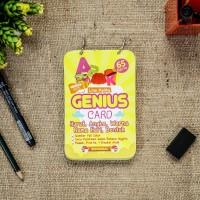 Genius Card : HUruf, Angka, Warna, Nama Hari, Bentuk