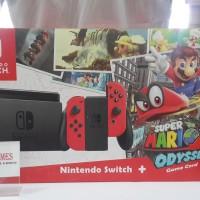 Jual Console Nintendo Switch + Super Mario Odyssey Edition Murah