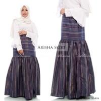 Rok Pesta Panjang Wanita Muslimah Maxi Arisha Long Skirt Tenun