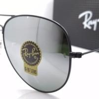 kacamata rayban aviator black mirror / sunglass ray ban aviator
