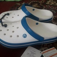 MODEL BARU Crocs band relaxed fit ORIGINAL white sandal sepatu pria w