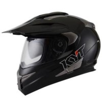 Helm KYT Enduro Super Moto Cross Visor Supermoto White Black