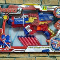 mainan anak pistol spiderman model nerf sof bullet