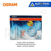 Toyota Innova Osram Lampu Depan (Head Lamp) Xenon HID H4 6000k
