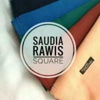 Hijab Kerudung Segi Empat Rawis Saudia Polos..!