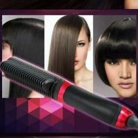 Fast Hair Straightener Comb Brush/ Catok Sisir Pelurus Rambut/ Catokan