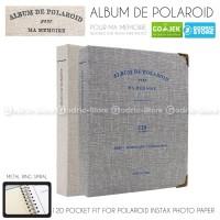 Album ScrapBook De Polaroid 20 Page w/ Fujifilm Instax Mini 120 Slot