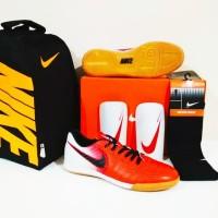 PAKET MURAH BERKUALITAS Sepatu Futsal Nike Tiempo IC (Red White) b8160323d3