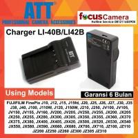 ATT Charger LI-40B LI-42B for FUJIFILM FinePix J10 J12 J15 J15fd J20