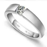 satuan cincin emas putih 18k AuAg