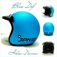 Helm Bogo Retro SNI JPN ARC Biru Dof + Pet