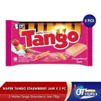 WAFER TANGO STRAWBERRY JAM 78GR[ ISI SET 5PCS]/LZ-5350
