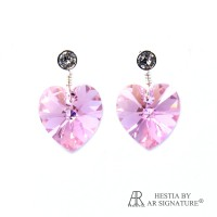 Perhiasan Anting Swarovski Irish Rose Crystal Earring by AR Hestia B