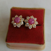 Giwang Anting Dady Day Batu Pink Emas 70 persen Asli Berkualitas