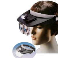Light Head Magnifying Glass Senter Kepala Kaca Pembesar LM HMG194 Be