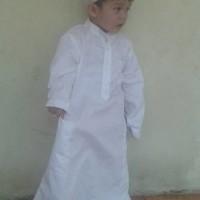 Baju Muslim Anak Gamis Jubah Putih 2 Dan 3 Tahun Murah