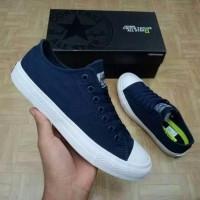 TOP Sneakers Sepatu Converse PREMIUM Made In Vietnam Blue Navy Low
