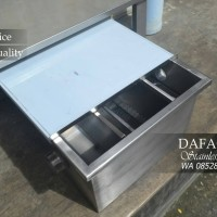 Grease Trap Stainless Steel Saringan Lemak Dapur Cuci Piring