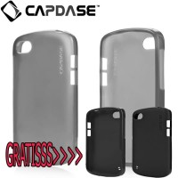 Case Silicon CAPDASE BB Blackberry Q10 Soft Back Cover Casing - BLACK