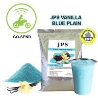 Bubuk Minuman Vanilla Blue Plain Powder JPS Tanpa Gula