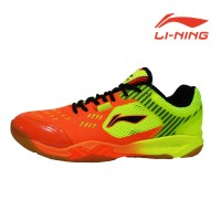 Li-Ning Pro Shoes Tontowi Ahmad and Liliyana Natsir Flashing Orange
