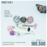 Paket HEMAT 6 in 1 D clip hijab turki pin magnet brooch turkey asli