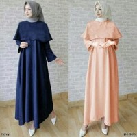 Baju Muslim Dwina Cape Gamis Dress Busana Muslim
