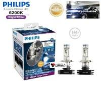 Lampu Mobil LED PHILIPS H4 6200K Hi-Lo Bright White Xtreme Ultinon H