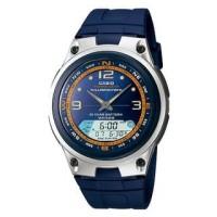 Casio Analog Digital Fishing Gear Watch AW-82H biru - Jam Tangan Pria