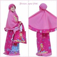Mukena Anak Karakter Frozen Anna Pink (Size XXL)