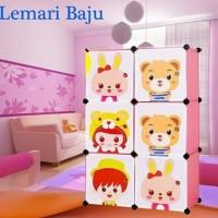 Rak Lemari Multifungsi Cabinet Wardrobe lemari anak plastik