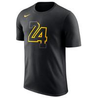 Tshirt Basket NBA Los Angeles Lakers Nike City Verbiage Number 24 KOBE