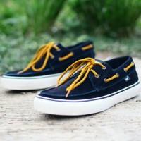 sepatu casual pria vans zapato bahan kulit suede asli 2 warna 39-44