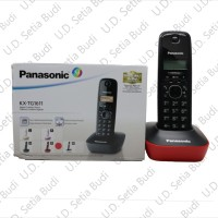 Cordless Telephone / Telepon Wireless Panasonic KX-TG1611 Merah