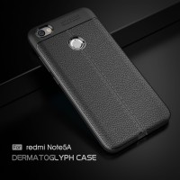 LEATHER AUTO FOCUS Xiaomi Redmi Note 5A Pro Prime soft case casing hp