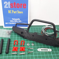 Metal Front Bumper + Lamp RC 1/10 Adv/Crawler