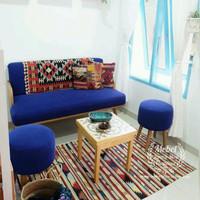 Kursi Tamu Sofa Minimalis Vintage Untuk Ruang Tamu Ukuran Kecil
