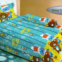 BEDCOVER SET LADY ROSE 3D 120 X 200 X 20 SINGLE NO3 - SNOW TIME