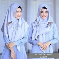 maxmara swarovski segi empat jilbab instan pesta modis murah