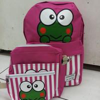 backpack fashion set keroppi