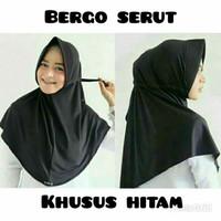 Jual Jilbab hijab kerudung bergo instan serut jokowi pet antem hitam murah Murah