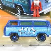 Matchbox VW Volkswagen T2 Bus Blue Horse