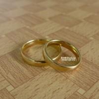 cincin tunangan engagement ring stainless steel 316L model gold
