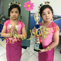 Baju Bodo Pakaian Adat Bodho Anak Perempuan TK / SD / SMP Set Lengkap
