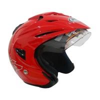 AVA K7 Falcon Helm Half Face - Red Metallic