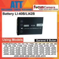 ATT Battery LI-40B LI-42B for FUJIFILM FinePix J10 J12 J15 J15fd J20